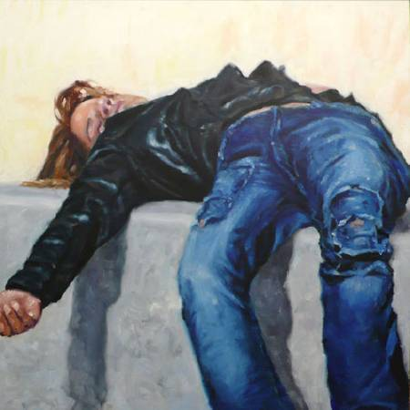 王綺穗 身體在自覺之上-倫敦 100x100cm 2008