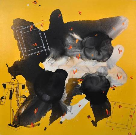 Yellow Composition   Acrylic on Canvas   150x150cm