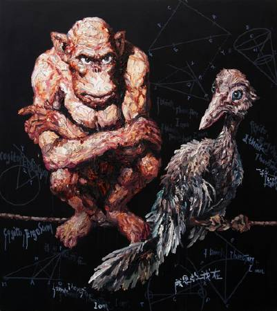 交流-油畫-162x145cm-2008.
