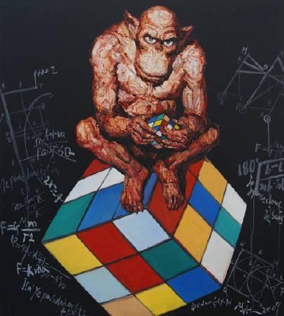探索的樂趣-No.4-油畫-145x130cm-2009