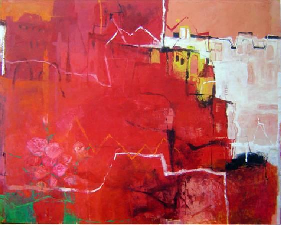 城市記憶-玫瑰馬修的店 2007 油畫 160*130cm