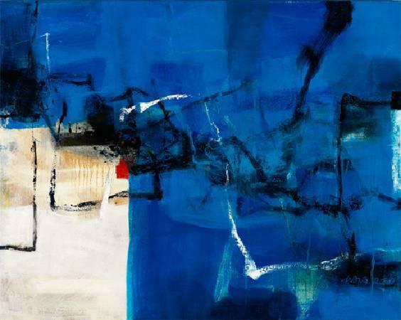 北國之冬—深夜的藍 2009 油畫 30F