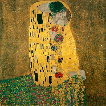 Gustav Klimt,〈Kiss〉。