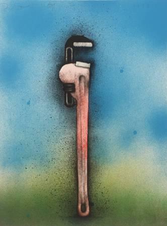 吉姆‧戴恩,〈Big Red Wrench in a Landscape〉。圖/擷取自Tate。