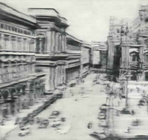 格哈德‧里希特,〈Domplatz, Mailan〉。圖/擷取自格哈德‧里希特官網。