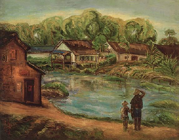 陳澄波《夏之朝》,1940年。