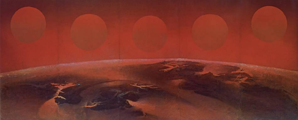 劉國松《子夜太陽》,1969-70年。