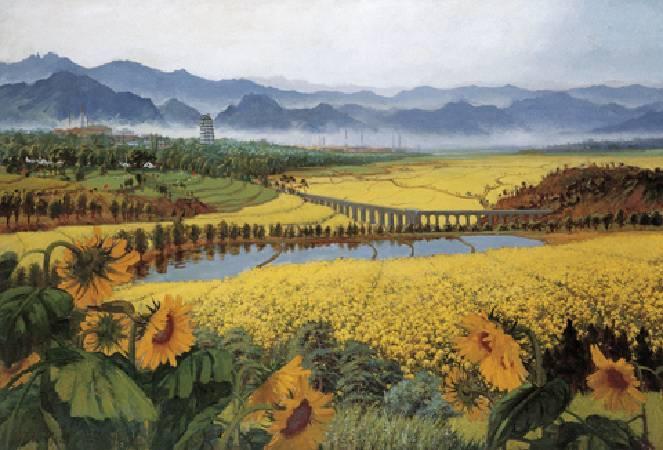 吳作人《戰地黃花分外香》。