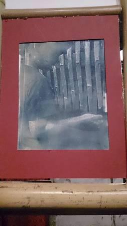 北藝大美術系學生程德匯運用日光顯影的老技術製作單幅攝影。(程德匯提供)