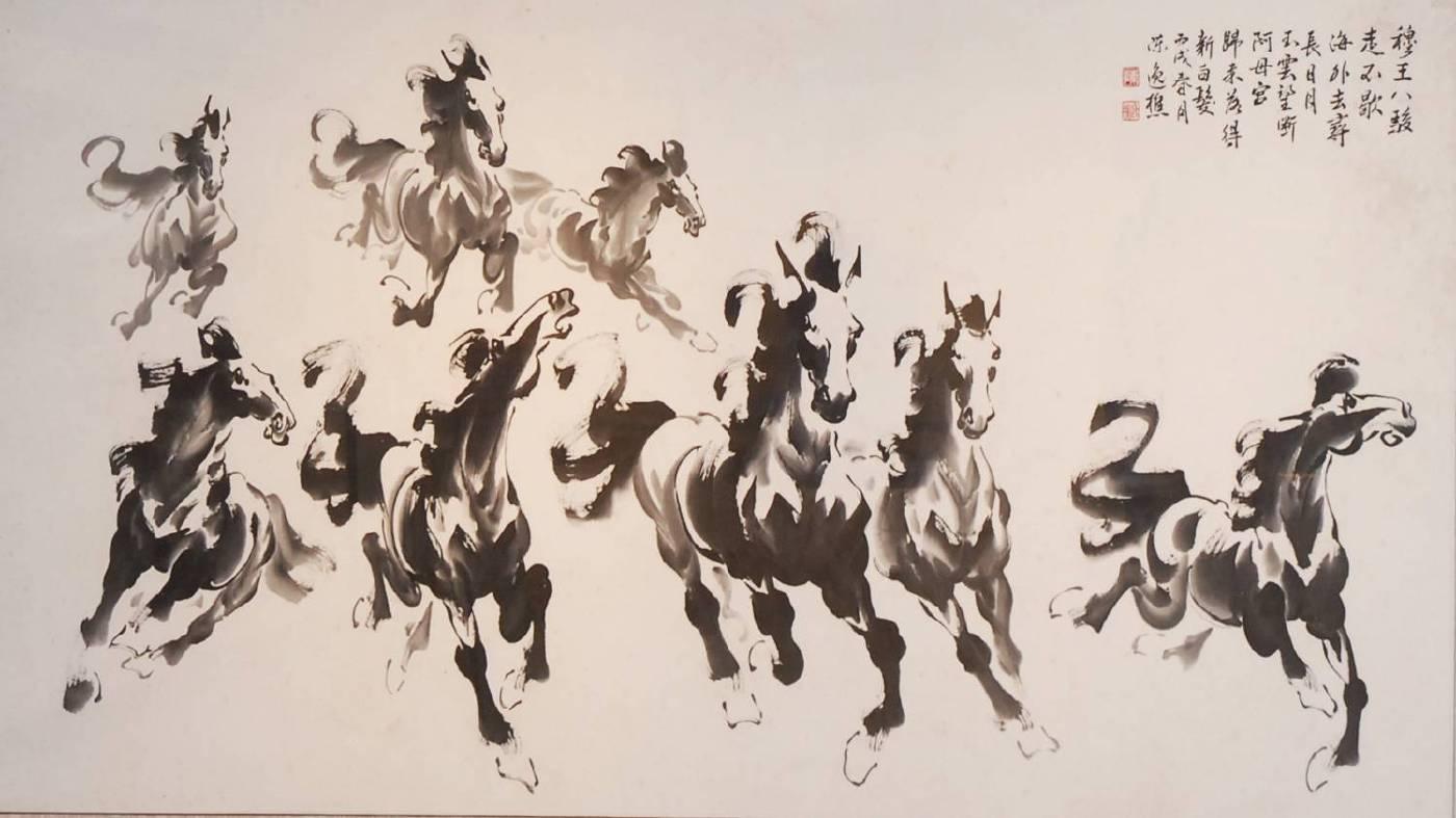 陳土金作品-八駿馬