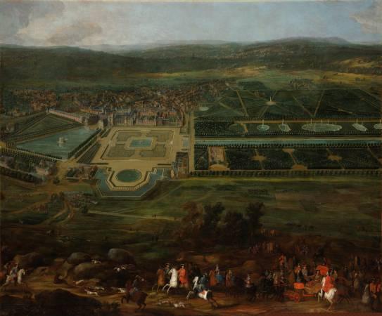 Pierre-Denis Martin,《Vue du Château de Fontainebleau》,1718-1723。圖/擷取自Google Art Project。