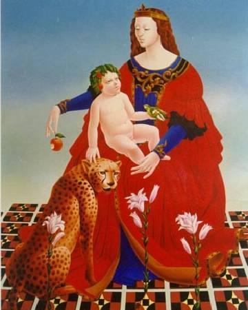 Mais Mkhitaryan,《神-母親》。圖/取自網路。