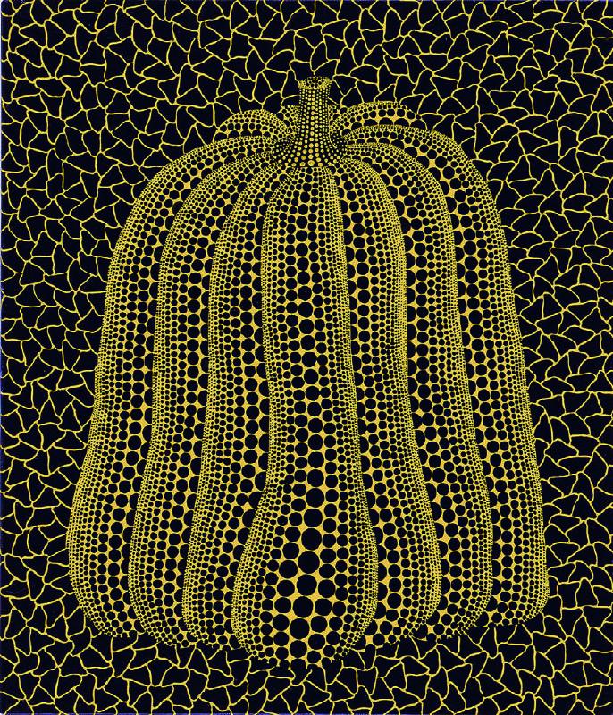 草間彌生,南瓜,53x45.5cm,布面壓克力,1991