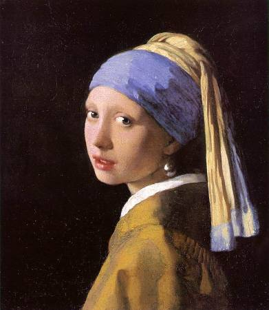 《戴珍珠耳環的少女》。圖/取自視覺素養學習網。