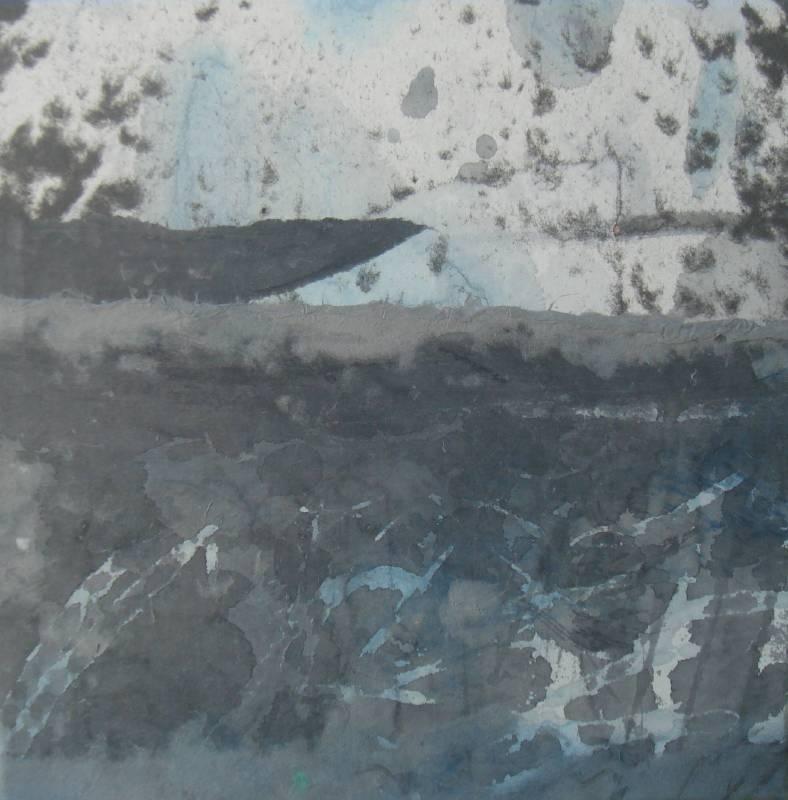 冬日的線條2/水墨、手抄紙/25x25cm/2014