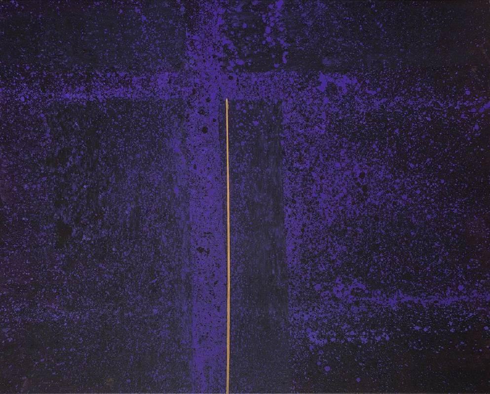 顏頂生,黃金之花(十六),壓克力顏料.畫布,161x130cm,2014