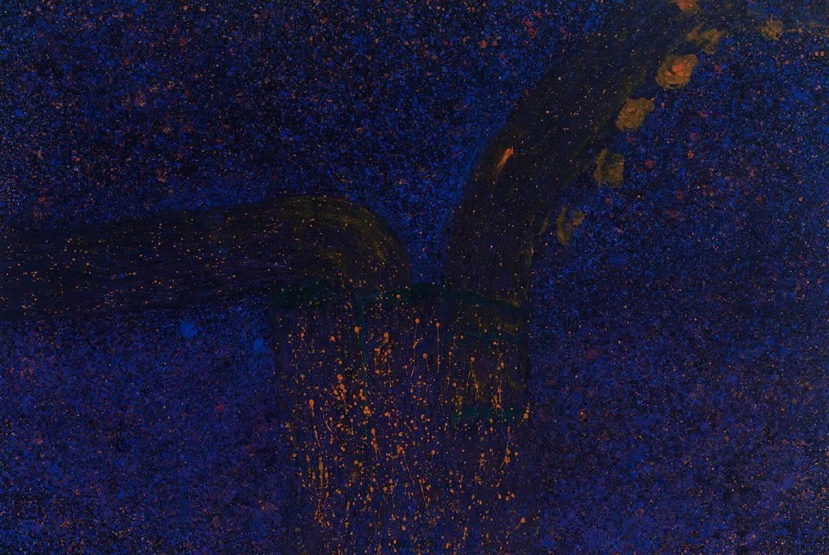 顏頂生,黃金之花(十九),壓克力顏料.畫布,194x130cm,2014