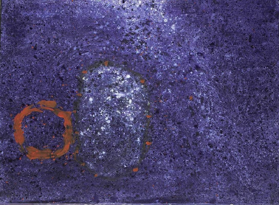 顏頂生,黃金之花(十一),壓克力顏料.畫布,130x97cm,2014