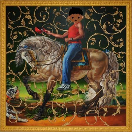 Artnet改編Kehinde Wiley《波托基公爵的畫像》。圖/取自Artnet。