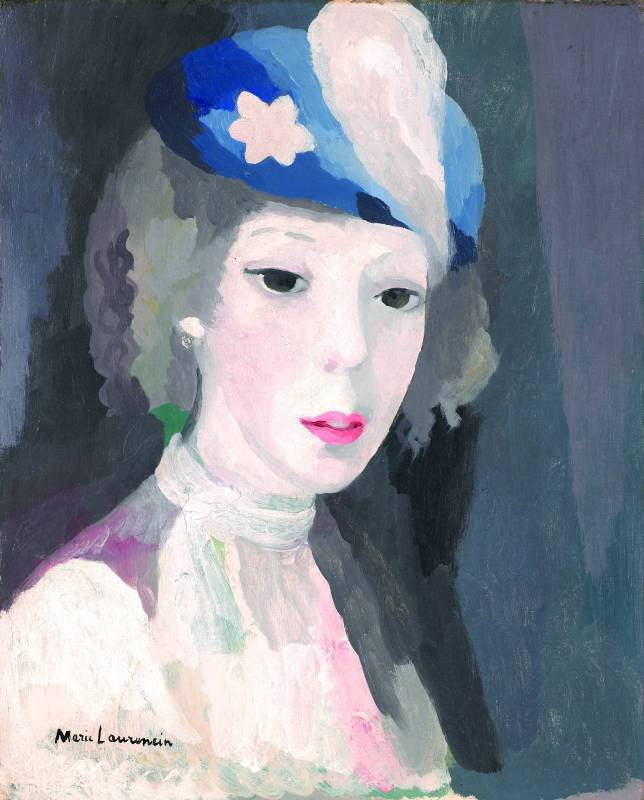 戴帽自畫像  1927  41,4 x 33,5 cm