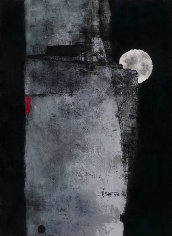 吳尚邕《四分之三圓滿》72.5x53cm,布面綜合材料,2013