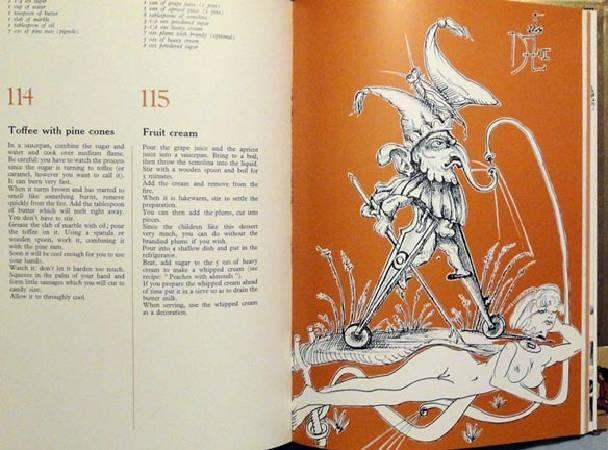 《卡拉的晚宴》菜單。圖/取自Salvador Dali Book Collector。