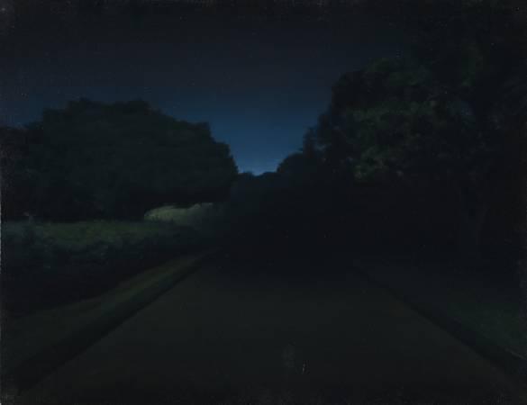 廖震平,《夜晚的公園》。圖/科元藝術中心提供。