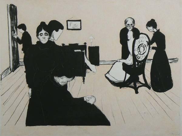 《病房中的死亡》(Death in the Sickroom), 1896。