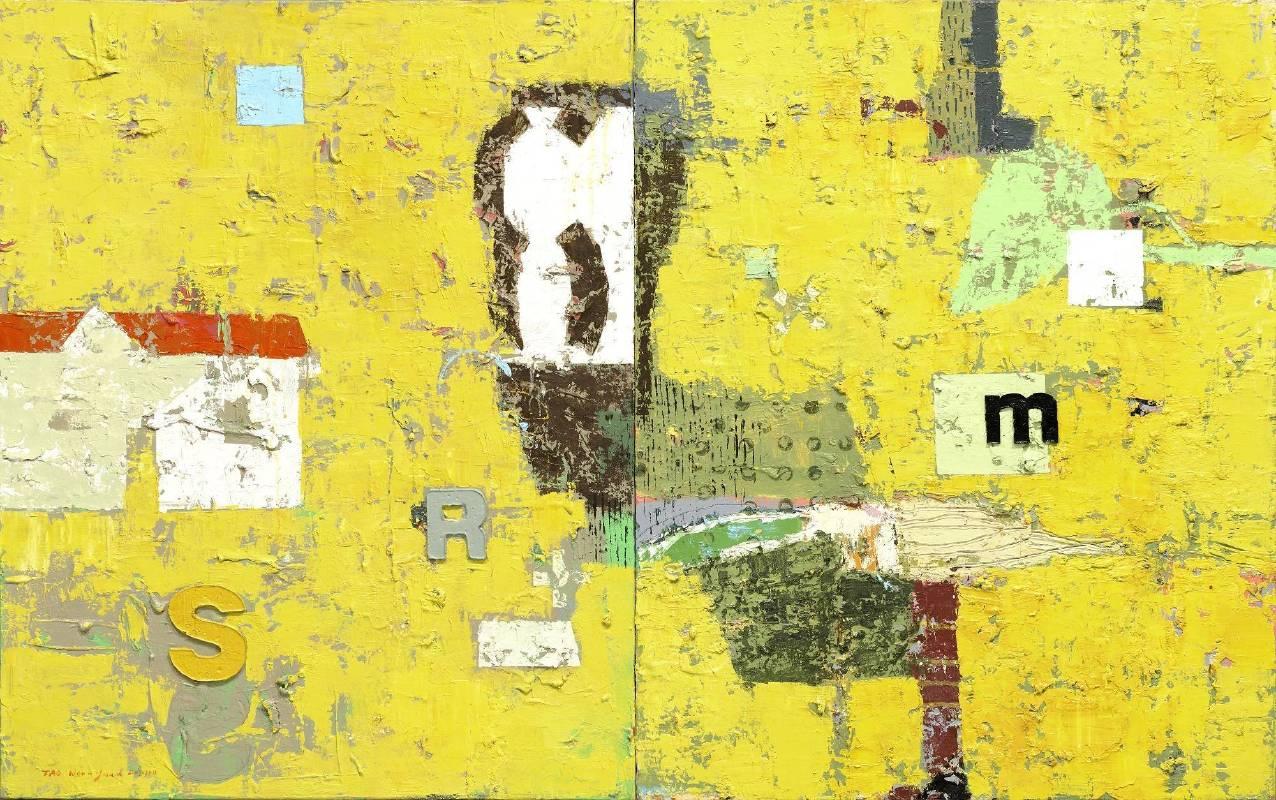 陶文岳-記憶的哲思 91 x 145cm 油彩畫布  2008~2011s