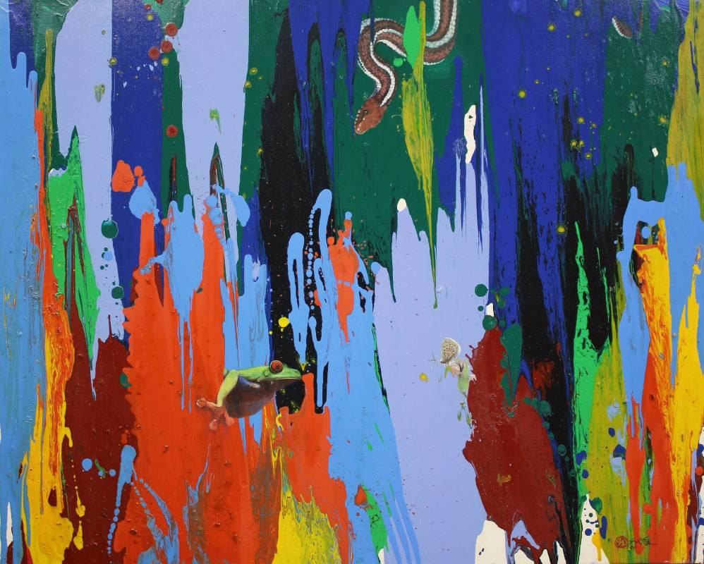 危機, 2010, 油彩、畫布, 72.5×91.5cm, 藝術家自藏