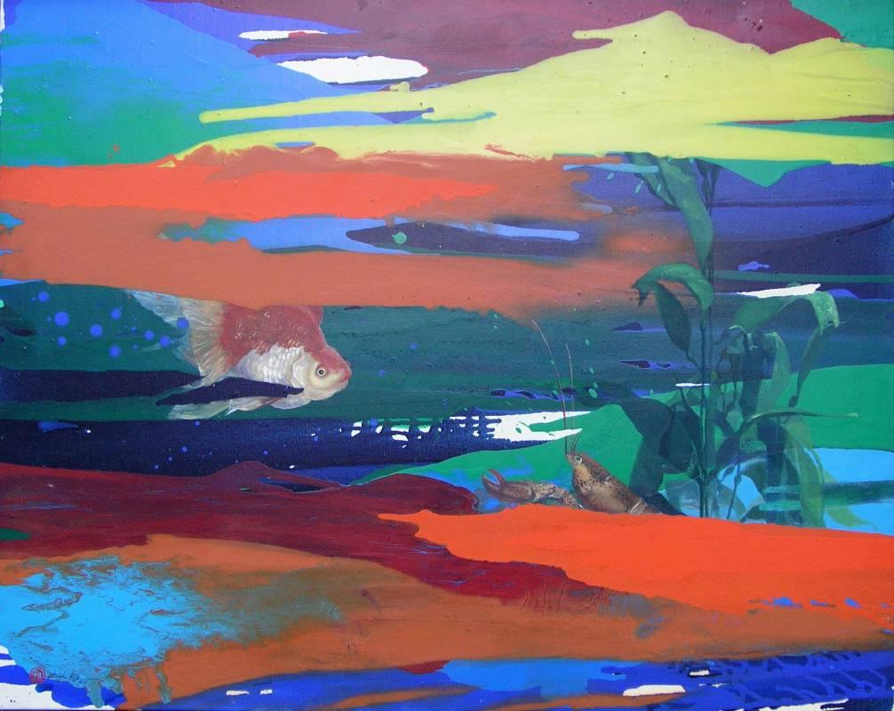 游於藝, 2005, 油彩、畫布, 72.5×91.5cm, 藝術家自藏