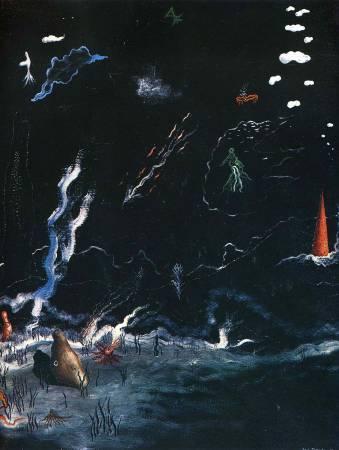 唐吉《風暴》(The Storm),1926。圖/取自Wikiart。
