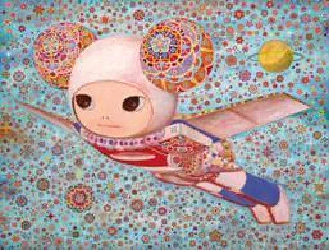 《宇宙無敵萬年飛行行—美麗島號》 壓克力、畫布,145.5x112cm,2012