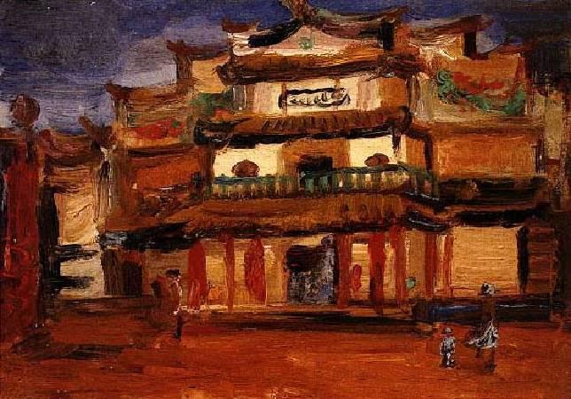陳植棋《新舞台》,1925-1930。圖/取自視覺素養學習網 。