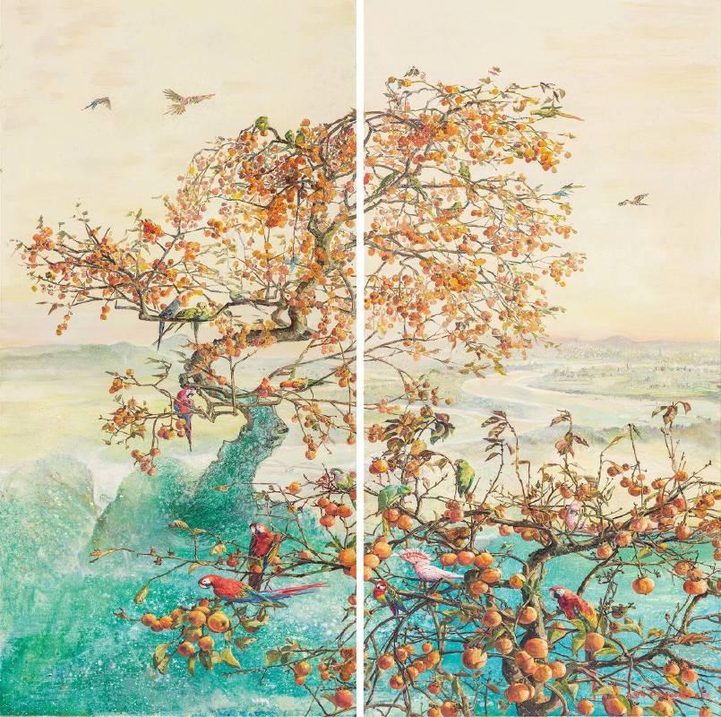 張翠容,《山含秋色近》,2014。