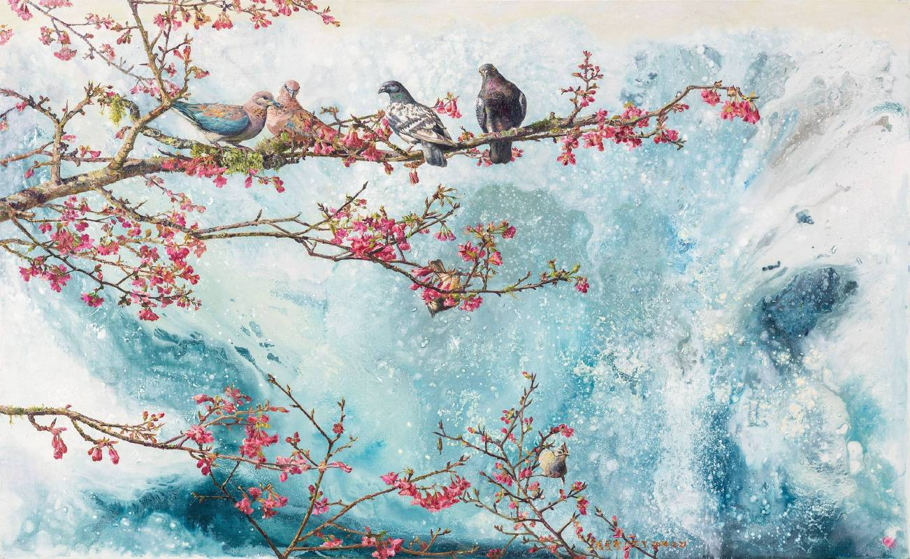 張翠容,《空山新雨后》,2014。