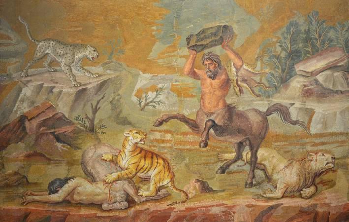 Centaur mosaic 。圖/取自Following Hadrian。