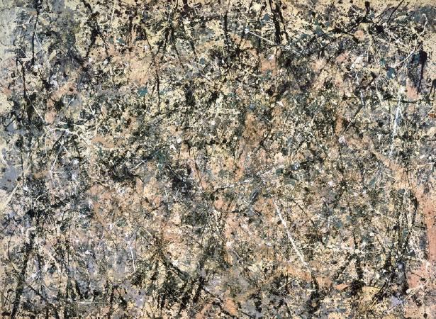 Jackson Pollock,《薰衣草之霧:一號》(Number1-Lavender Mist)。圖/取自Wikiart。