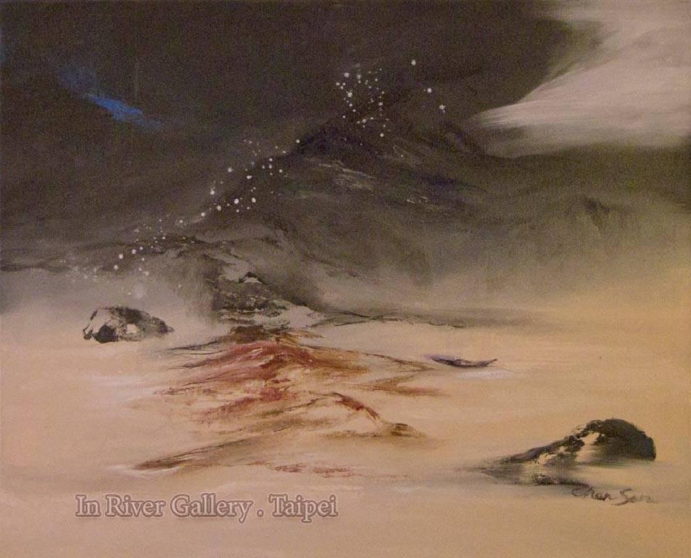 塵三-寒行,油畫,72.5x91cm,2014