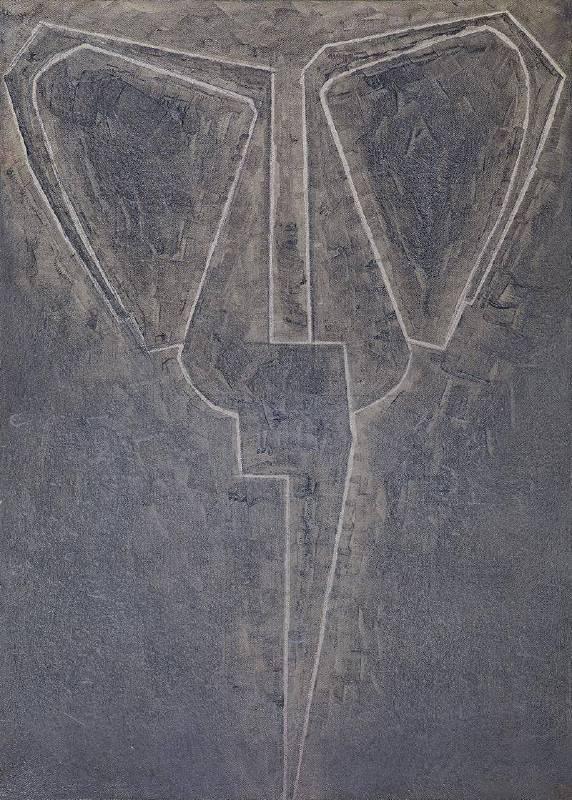 毛旭輝_剪刀•2008.05.19_油彩畫布、壓克力_ 70×50cm,2008.05.19.