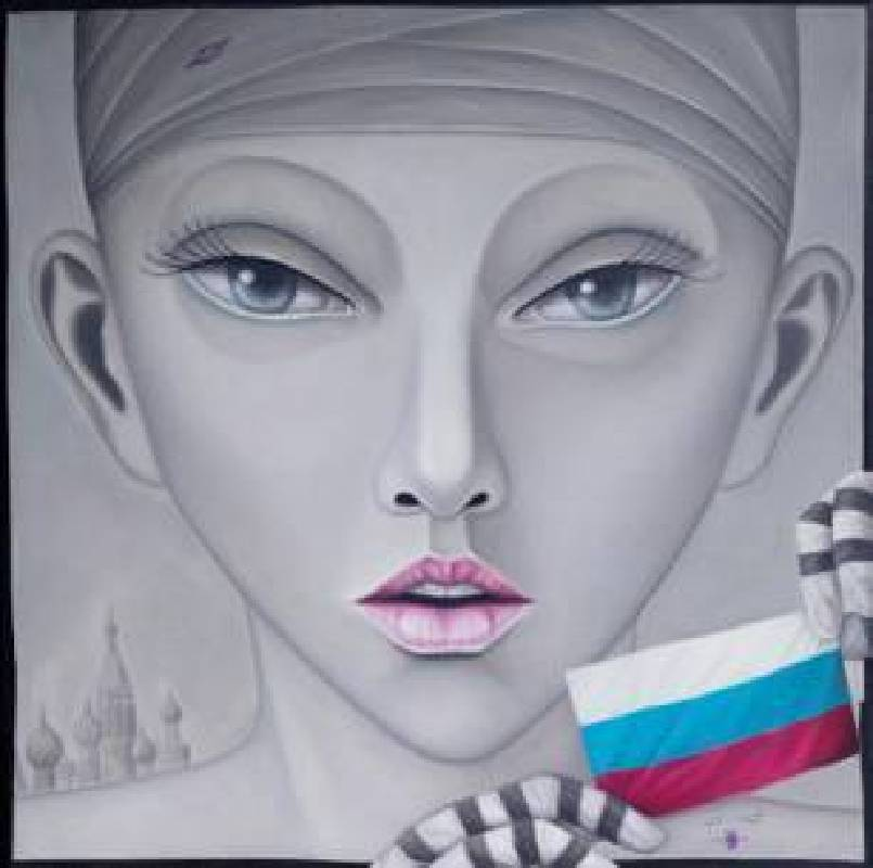 Dani King Heriyanto-UNSC Russia-Oil on Canvas-130x130cm-2014-Art Front Gallery