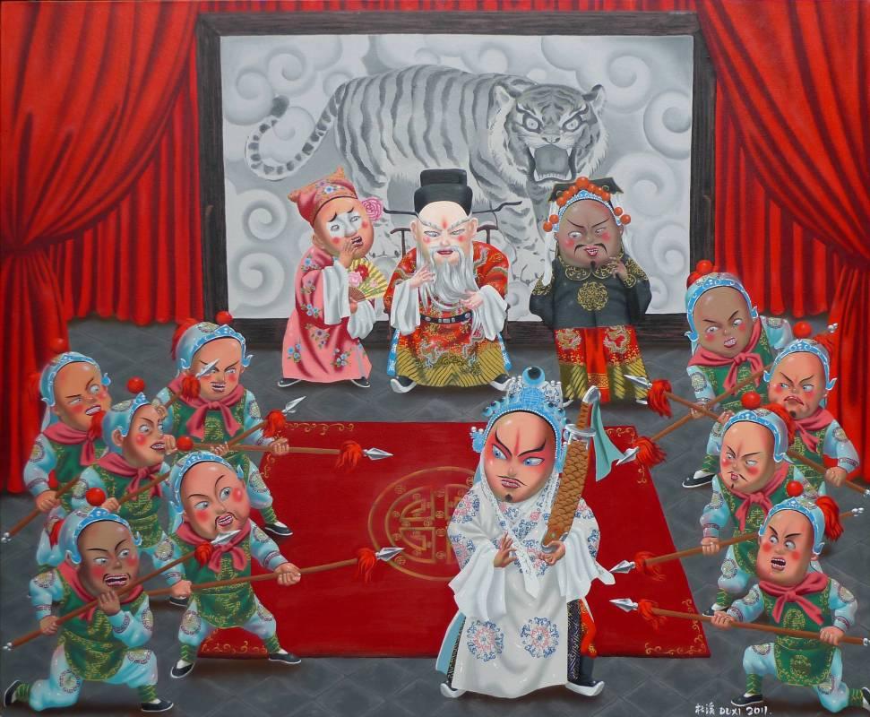 Du Xi 杜溪-White Tiger Hall白虎堂-油彩畫布-140x170cm-2011-William Art Salon 威廉藝術沙龍