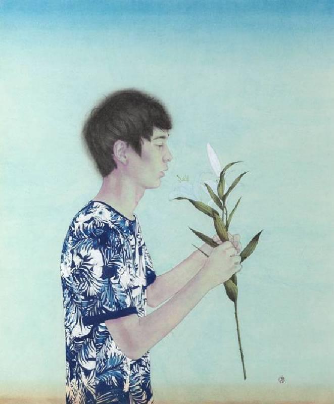Kao Yi Sheng 高義勝-無名之夏-水墨-101x78cm-2014-Imavision Gallery Inc 晴山藝術中心