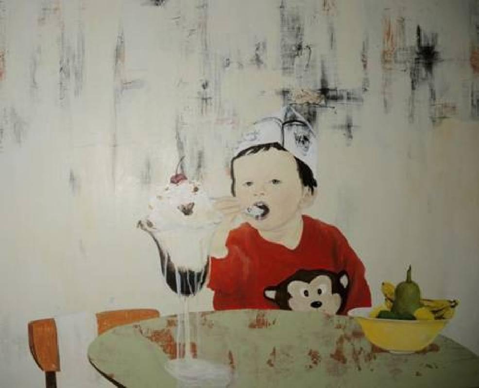 Yi-Shiang Yang 楊依香-Birthday 生日-Acrylics on canvas-80x65cm-2013-GALERIE OVO 十方藝術空間