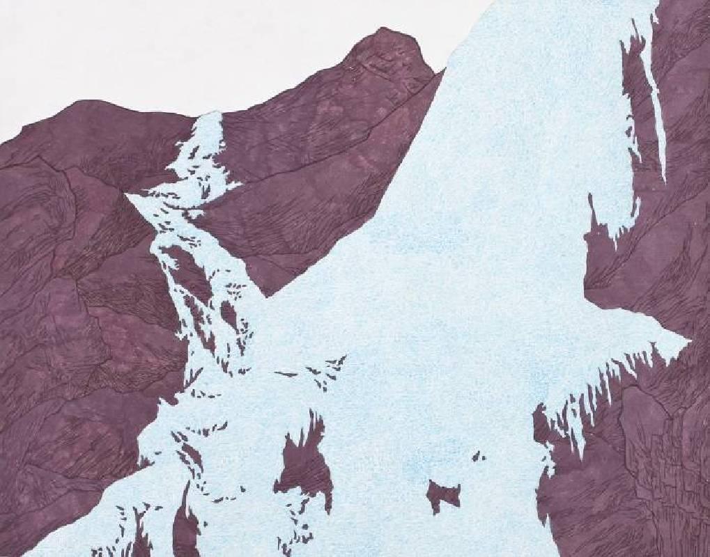 YOU Gap kyu 柳甲奎-climbing a frozen waterfall  Ink on Jangji-72.8x60cm-2013-EKartgallery