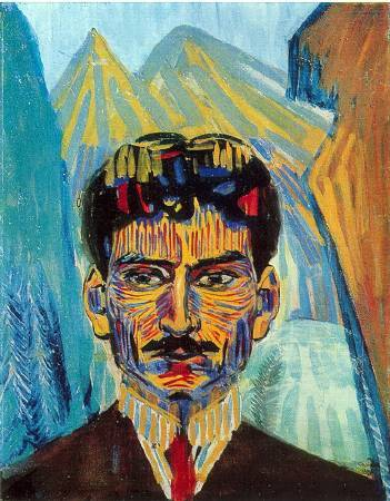 Martiros Saryan,《self-portrait》,1909。圖/取自wikiart。