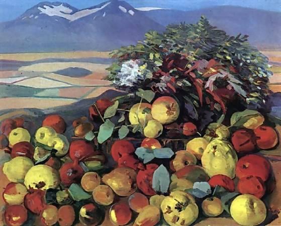 Martiros Saryan,《autumn still life》,1961。圖/取自wikiart。