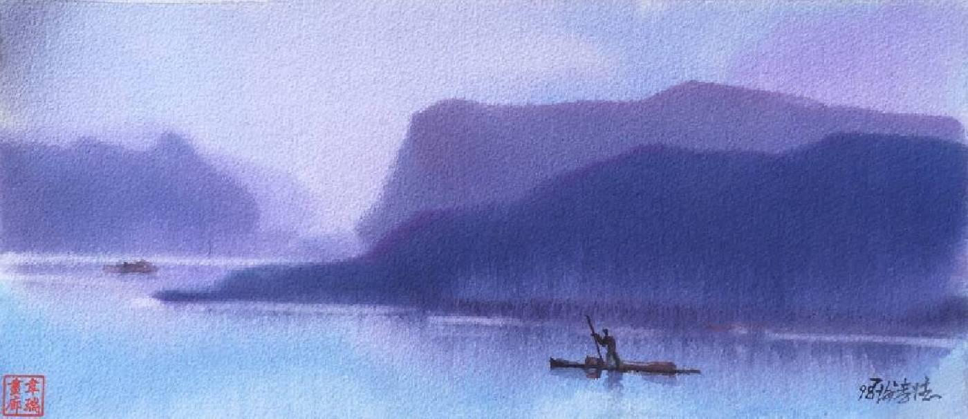 謝孝德,《山靈水秀》,1998。