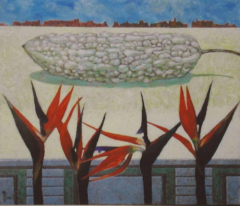 劉洋哲-天上人間-油畫-45X53.5cm-1996