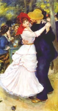 雷諾瓦《在布吉佛跳舞》。圖/取自Wiki Art。